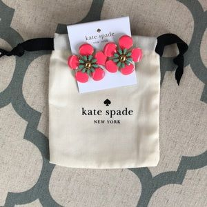NWT Kate Spade posy studs pink flower earrings